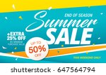 summer sale template banner in... | Shutterstock .eps vector #647564794