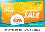 summer sale template banner in... | Shutterstock .eps vector #647564821