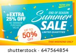 summer sale template banner in... | Shutterstock .eps vector #647564854