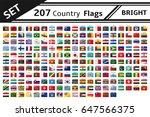 set 207 country flags with... | Shutterstock .eps vector #647566375