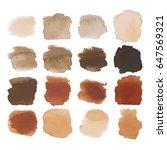 vector set of dark brown... | Shutterstock .eps vector #647569321