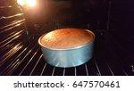cake baking in the oven   Shutterstock . vector #647570461