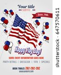 flag day poster with usa flag...   Shutterstock .eps vector #647570611