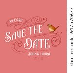 vintage save the date card | Shutterstock .eps vector #647570677