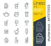 lineo editable stroke   drink...   Shutterstock .eps vector #647572525
