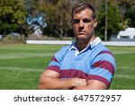 portrait of confident rugby... | Shutterstock . vector #647572957