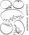 beautiful collection of oval... | Shutterstock .eps vector #64757371