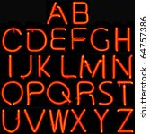 real neon sign capital letter... | Shutterstock . vector #64757386