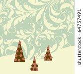 retro christmas card | Shutterstock .eps vector #64757491