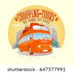 fashion shopping tours vector... | Shutterstock .eps vector #647577991