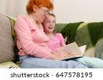grandma and grandchild are...   Shutterstock . vector #647578195