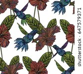 seamless pattern with... | Shutterstock .eps vector #647579371