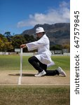 side view of cricket umpire...   Shutterstock . vector #647579845
