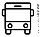 bus line vector icon | Shutterstock .eps vector #647585101