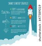 rocket ship launch. start up... | Shutterstock .eps vector #647589019