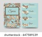 popular hand drawn spice flyers ...   Shutterstock .eps vector #647589139