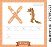 Letter X Uppercase Tracing...