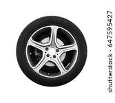 tubeless car wheel on light... | Shutterstock . vector #647595427