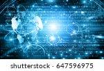 best internet concept of global ... | Shutterstock . vector #647596975