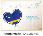 heart logo made from the flag...   Shutterstock .eps vector #647602741