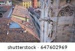 duomo di milan terrace   italy | Shutterstock . vector #647602969
