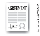 agreement concept  signed paper ... | Shutterstock .eps vector #647605615