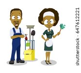 vector illustration of cleaning ... | Shutterstock .eps vector #647612221