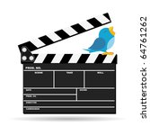 bird with movie news on top of... | Shutterstock .eps vector #64761262