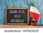 the text buonna festa della... | Shutterstock . vector #647614159