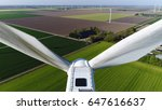 aerial photo close up of wind... | Shutterstock . vector #647616637