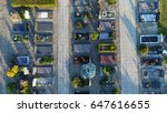 aerial photo of cemetery... | Shutterstock . vector #647616655