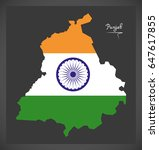 punjab map with indian national ...   Shutterstock .eps vector #647617855