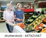 female pensioner and her... | Shutterstock . vector #647621467