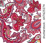 multicolor paisley ornament... | Shutterstock .eps vector #647625274