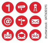 set of 9 post filled icons such ... | Shutterstock .eps vector #647630191