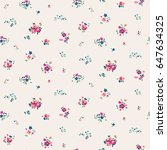 trendy seamless floral pattern... | Shutterstock .eps vector #647634325