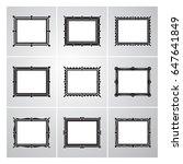 set of simple decorative... | Shutterstock .eps vector #647641849