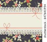 elegant lace frame with... | Shutterstock .eps vector #647641954