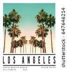 photo print california palm... | Shutterstock . vector #647646214