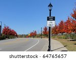 road with bike lane and no... | Shutterstock . vector #64765657