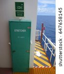 Small photo of stretcher cabinet at oil and gas wellhead remote platform