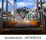 platform bridge   Shutterstock . vector #647658151