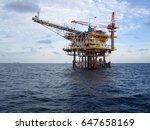 wellhead remote platform | Shutterstock . vector #647658169