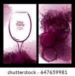 illustration of wine glass hand ... | Shutterstock .eps vector #647659981