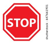 stop sign | Shutterstock .eps vector #647661901
