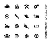 car service icons    black... | Shutterstock .eps vector #647662459