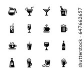 drinks icons    black series  ... | Shutterstock .eps vector #647662657