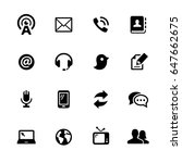 communications icons    black... | Shutterstock .eps vector #647662675