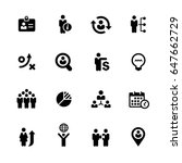 efficient business icons   ... | Shutterstock .eps vector #647662729