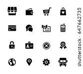 online store icons    black... | Shutterstock .eps vector #647662735